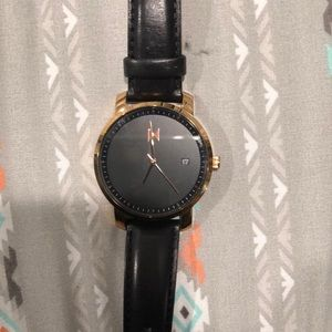 MVMT Black And Rose Gold Watch